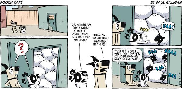 Pooch Cafe for Apr 17, 2011 Comic Strip