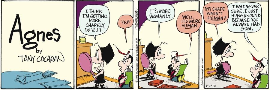 Agnes for Feb 17, 2013 Comic Strip