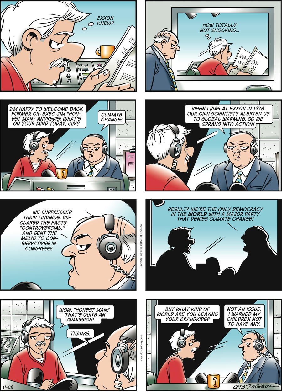 Doonesbury Comic Strip for November 08, 2015