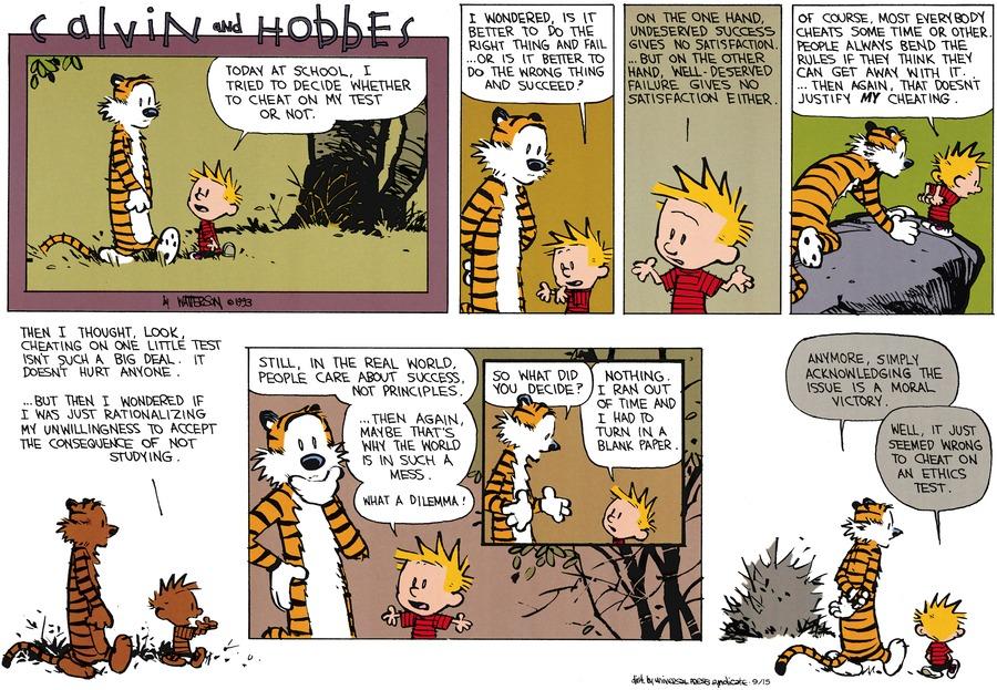 Calvin and Hobbes Comic Strip for September 15, 2013