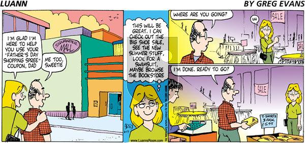 Luann - Sunday June 17, 2001 Comic Strip
