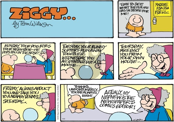 Ziggy on Sunday April 22, 2018 Comic Strip