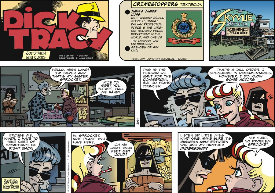 Dick Tracy Comic Strip for February 01, 2015