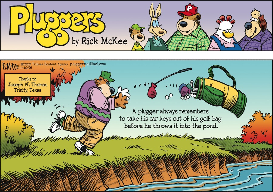 Pluggers Comic Strip for October 25, 2020
