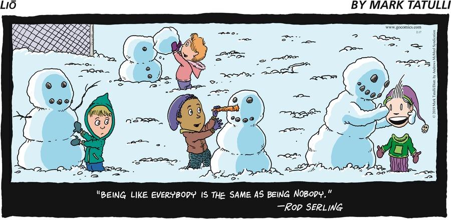 Lio Comic Strip for February 17, 2019