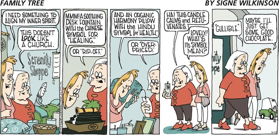 Family Tree Comic Strip for September 15, 2019