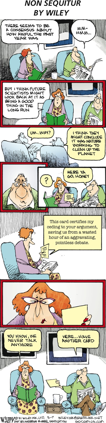 Non Sequitur Comic Strip for March 07, 2021