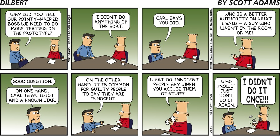 Dilbert Did Not Say That  - Dilbert by Scott Adams