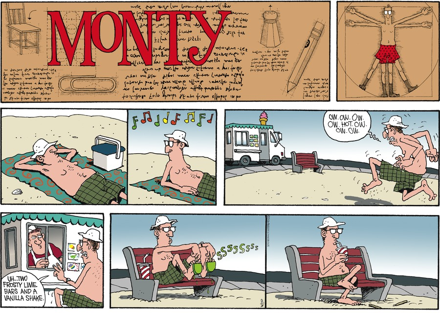 Monty Comic Strip for August 03, 2014