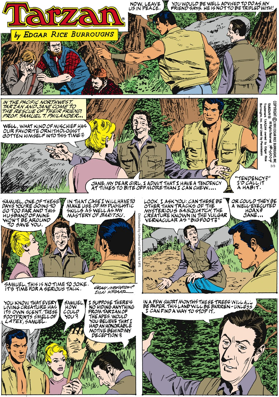 Tarzan for Mar 3, 2013 Comic Strip