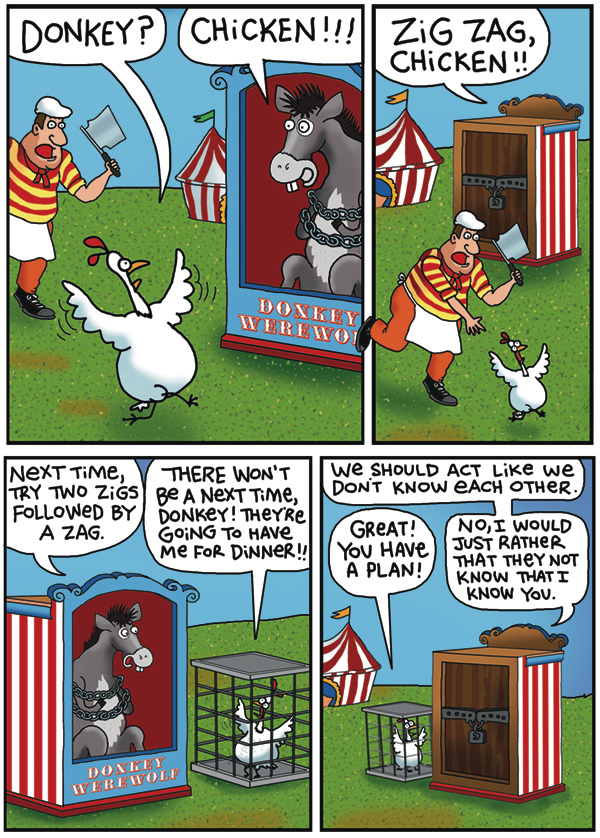 2 Cows and a Chicken by Steve Skelton for June 21, 2019