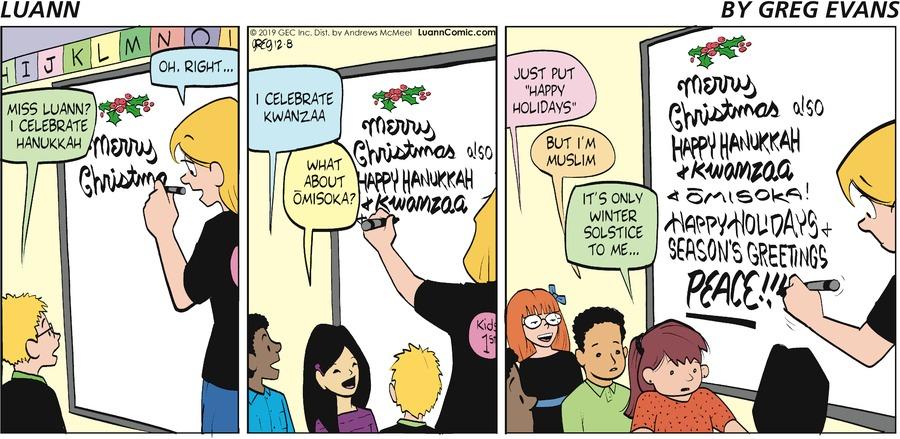 Luann Comic Strip for December 08, 2019