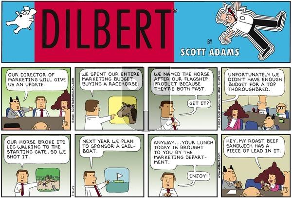Dilbert on Sunday March 21, 2004 Comic Strip