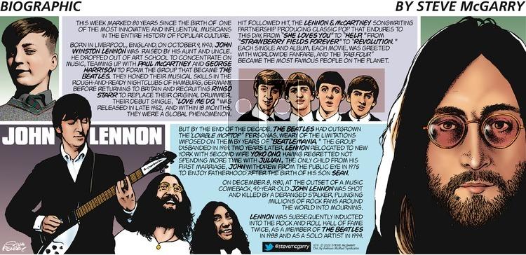 Biographic on Sunday October 11, 2020 Comic Strip