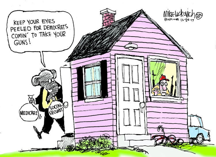Mike Luckovich Comic Strip for December 24, 2017