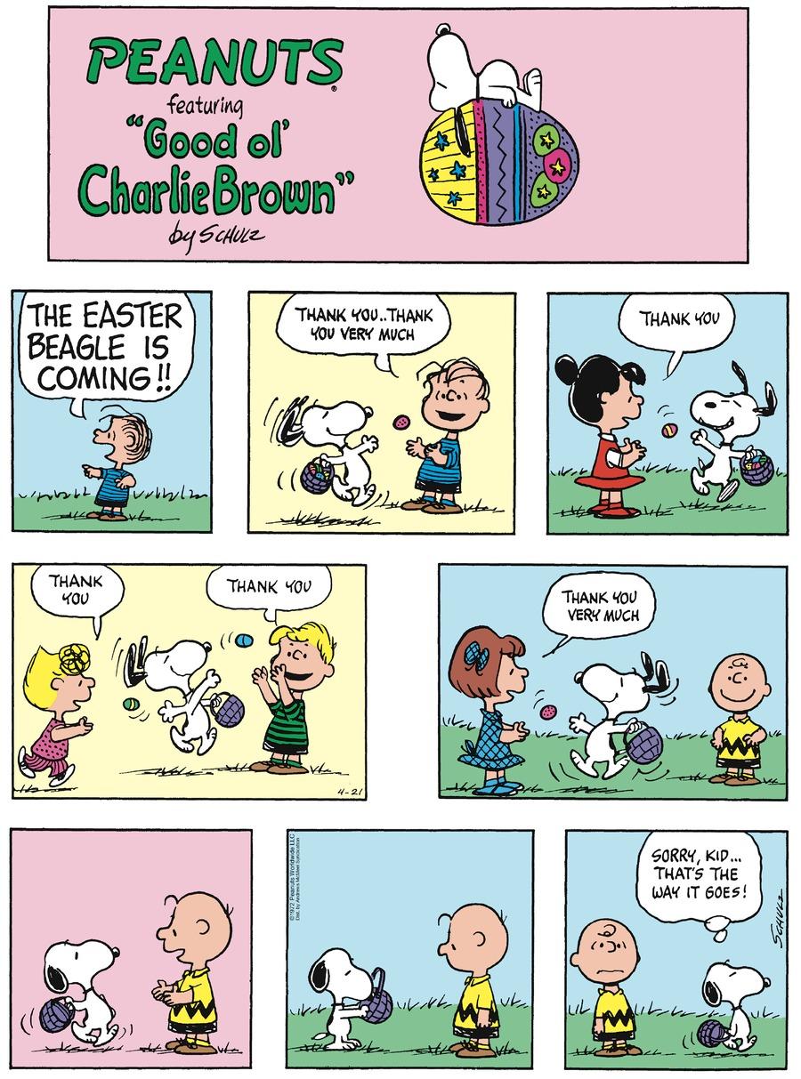 Peanuts Comic Strip for April 21, 2019