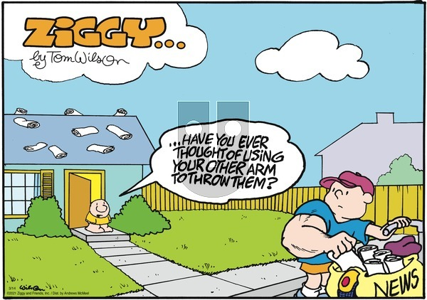 Ziggy on Sunday March 14, 2021 Comic Strip