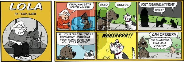 Lola on Sunday October 1, 2017 Comic Strip