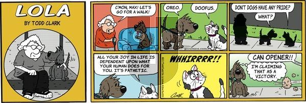 Lola on Sunday October 1, 2017 Comic Strip