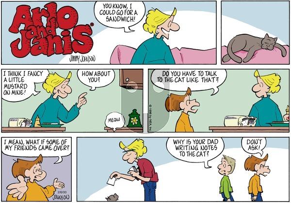 Arlo and Janis on Sunday February 6, 2000 Comic Strip