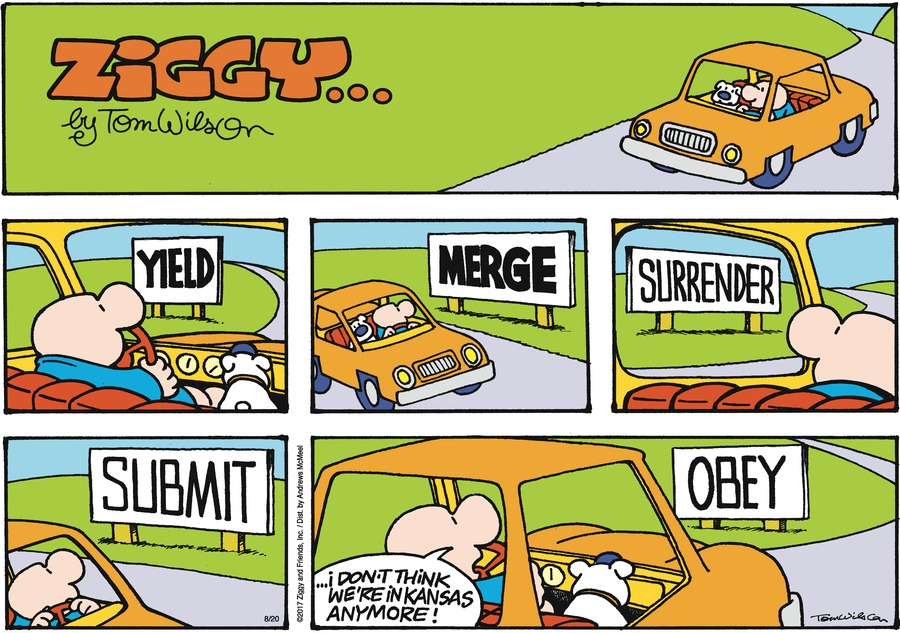 Ziggy Comic Strip for August 20, 2017