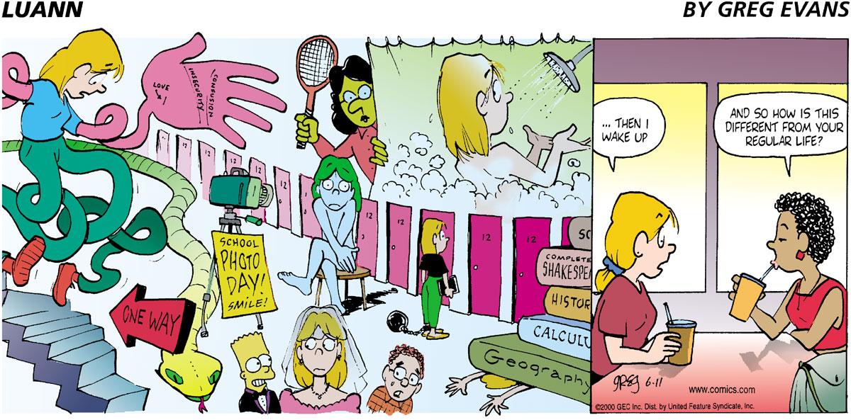 Luann Comic Strip for June 11, 2000