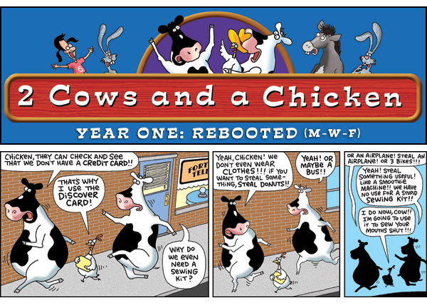 2 Cows and a Chicken for Jun 3, 2013 Comic Strip