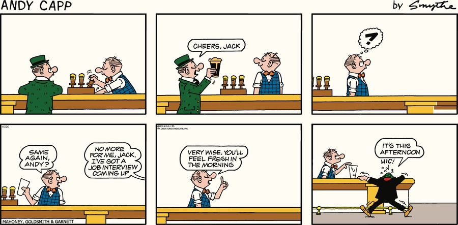 Andy Capp Comic Strip for October 20, 2019
