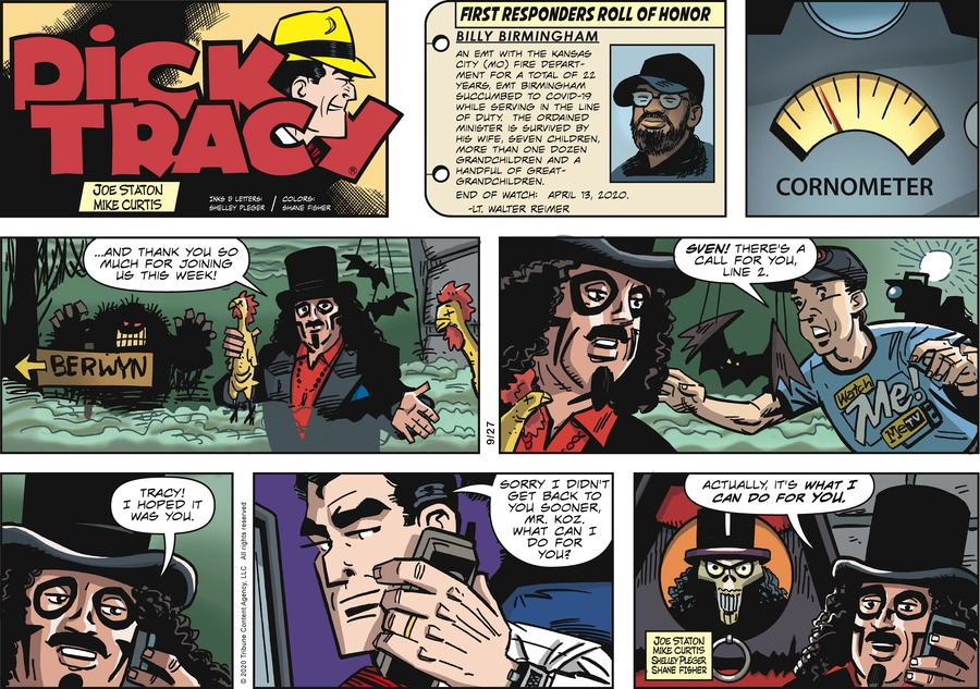 Dick Tracy Comic Strip for September 27, 2020