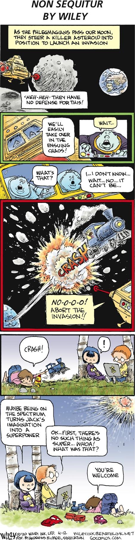 Non Sequitur Comic Strip for April 12, 2020