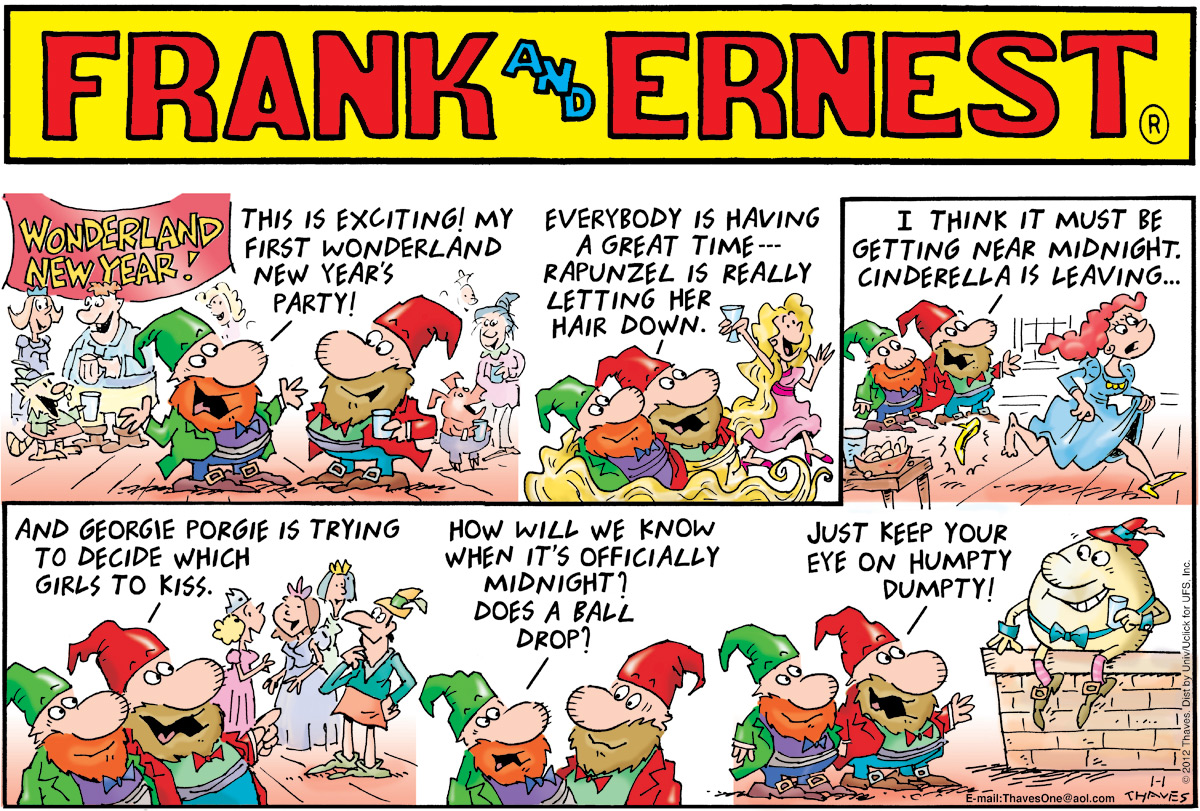 Frank and Ernest Comic Strip for January 01, 2012