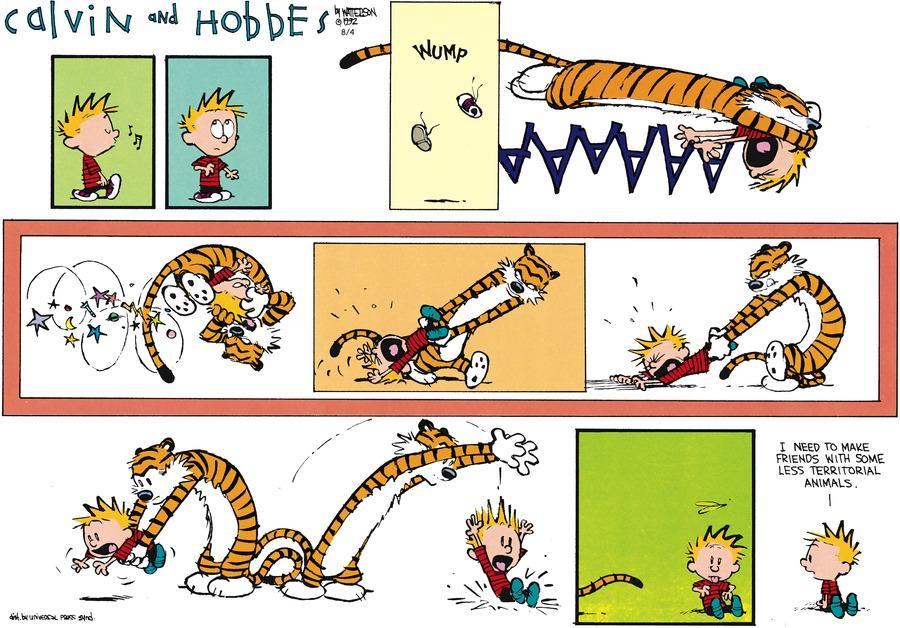 Calvin and Hobbes Comic Strip for September 20, 1992