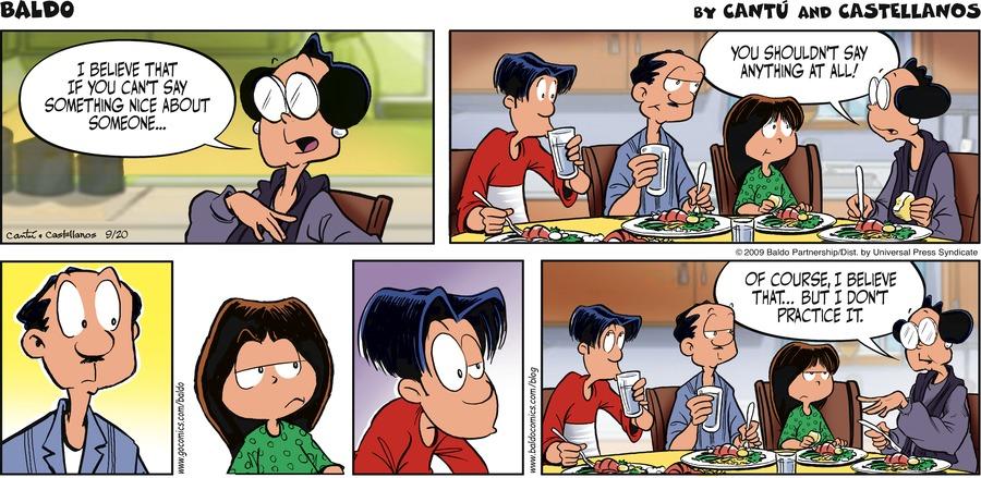 Baldo for Sep 20, 2009 Comic Strip