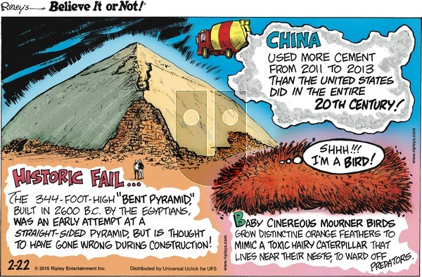Ripley's Believe It or Not on Sunday February 22, 2015 Comic Strip