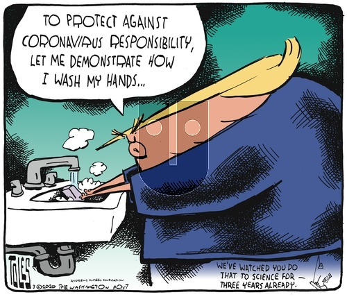 Tom Toles on Sunday March 1, 2020 Comic Strip