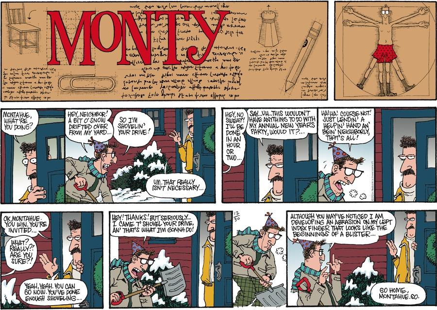 Monty for Dec 30, 2012 Comic Strip