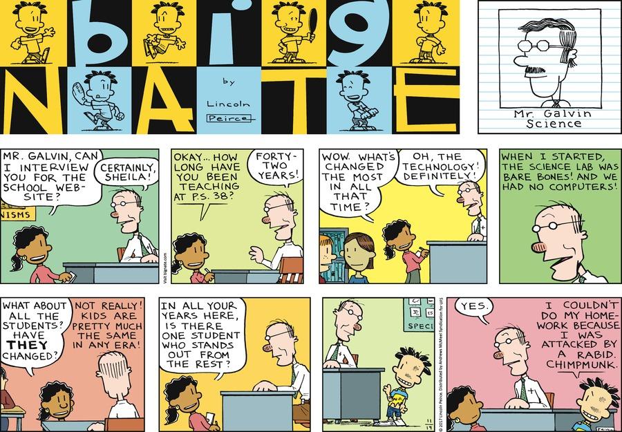 Big Nate for Nov 19, 2017 Comic Strip