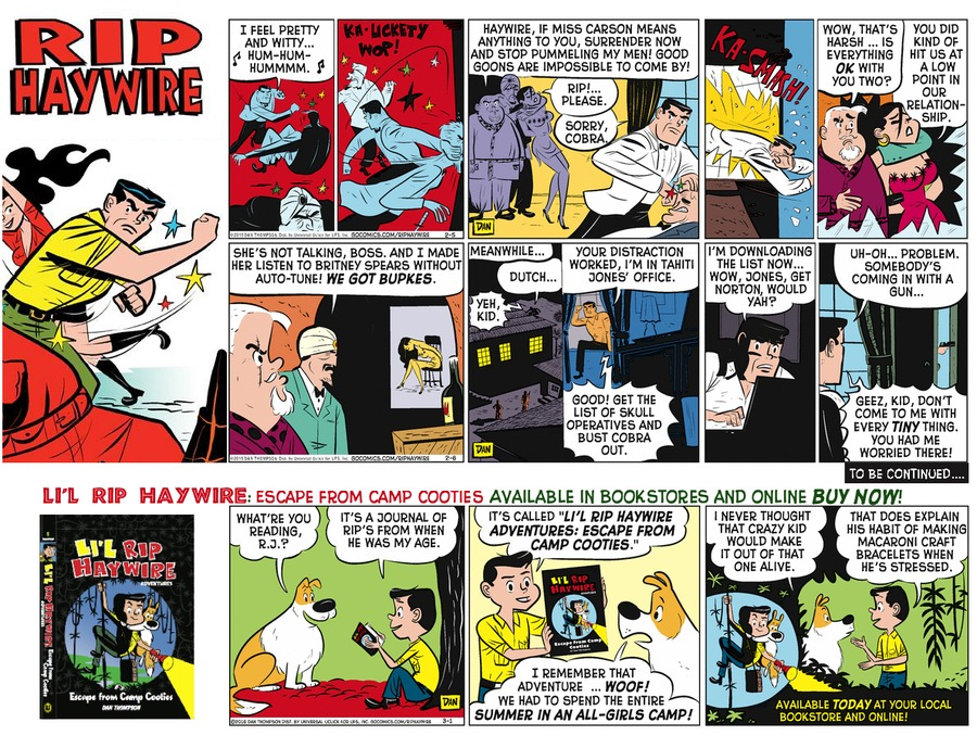 Rip Haywire Comic Strip for September 11, 2016