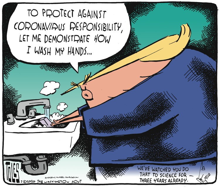 Tom Toles Comic Strip for March 01, 2020