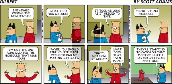 Dilbert on Sunday November 18, 2018 Comic Strip