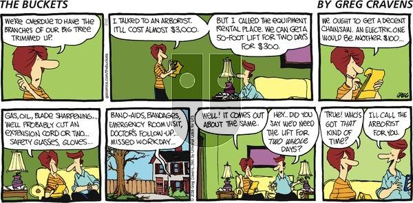 The Buckets on Sunday October 16, 2016 Comic Strip