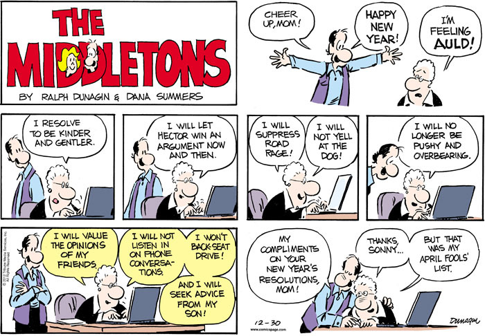 The Middletons for Dec 30, 2012 Comic Strip