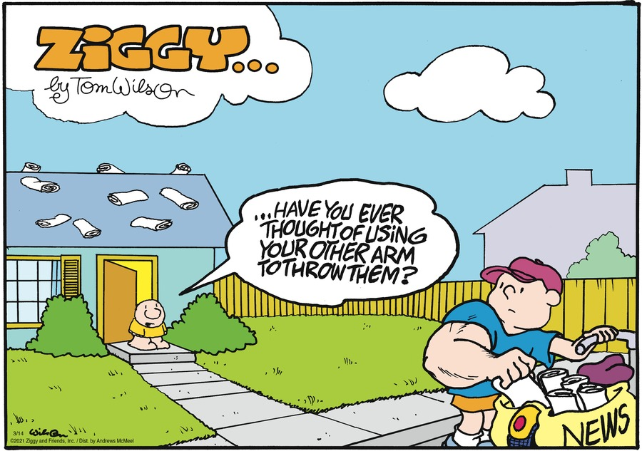Ziggy Comic Strip for March 14, 2021
