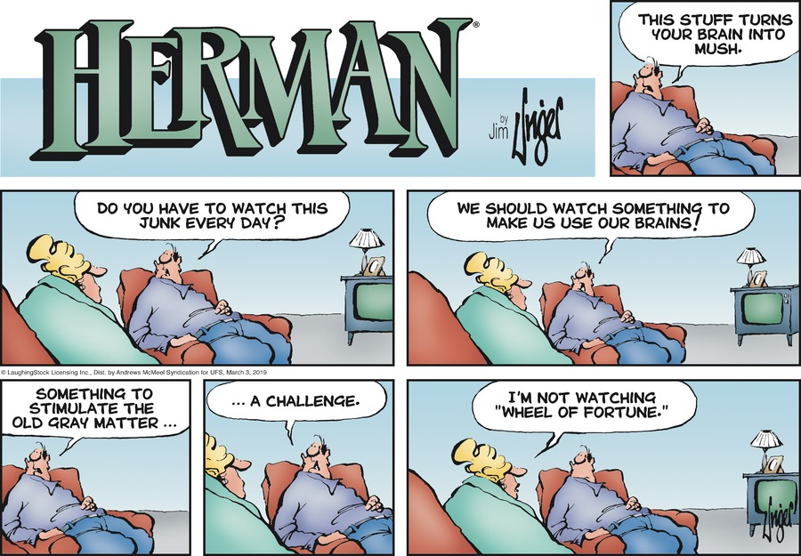 Herman by Jim Unger for March 03, 2019