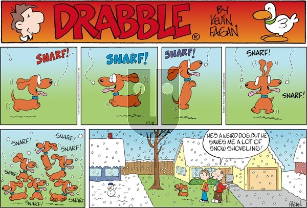 Drabble on Sunday January 7, 2018 Comic Strip