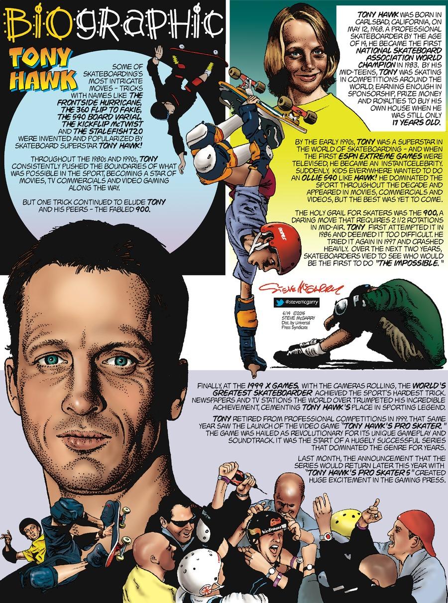 Biographic Comic Strip for June 14, 2015