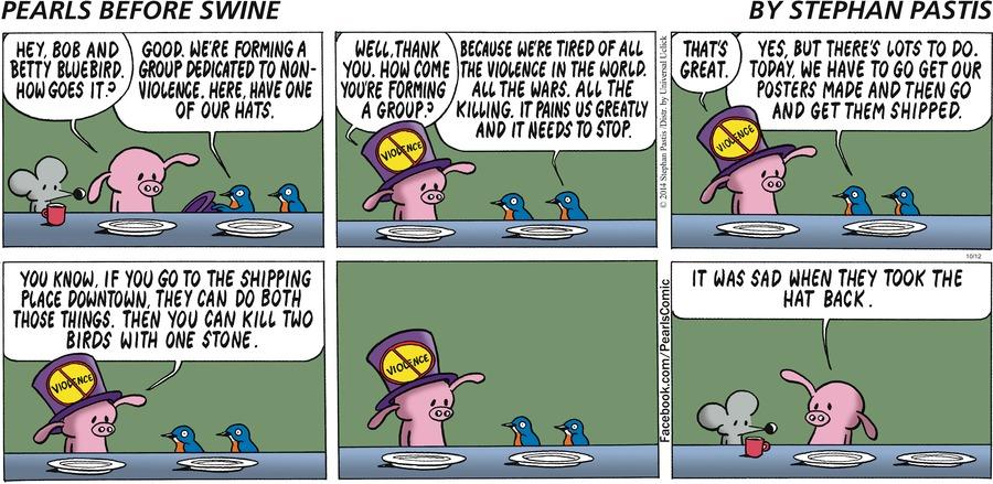 Pearls Before Swine Comic Strip for October 12, 2014