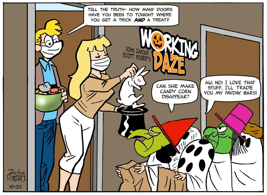 Working Daze Comic Strip for October 25, 2020
