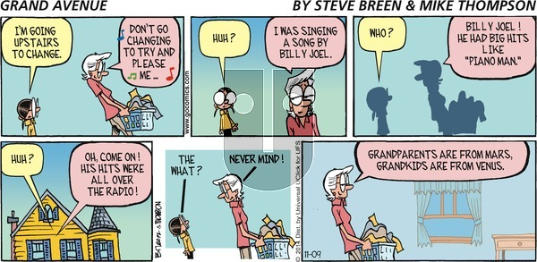 Grand Avenue on Sunday November 9, 2014 Comic Strip