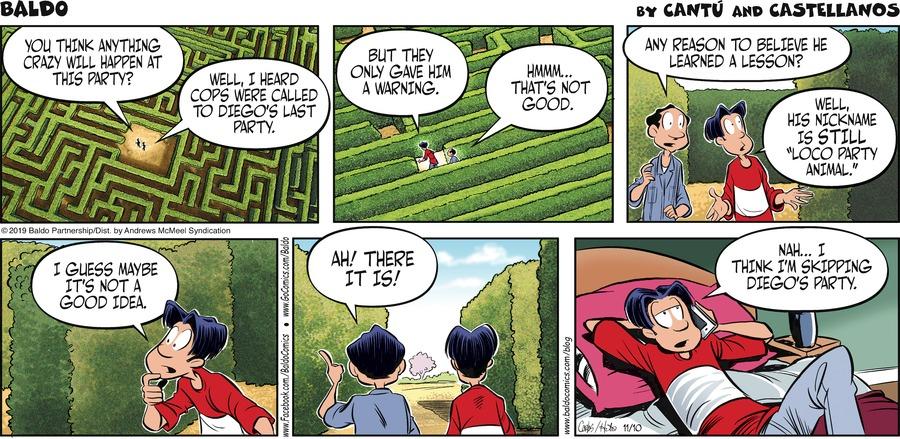 Baldo Comic Strip for November 10, 2019